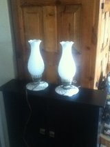 Milk Glass Lanterns in Fort Campbell, Kentucky