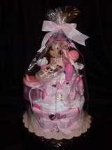 Diaper Cake - Minnie Mouse - Pink in Kingwood, Texas